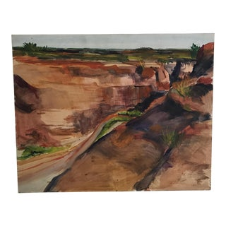 Southwest Canyon Oil Painting