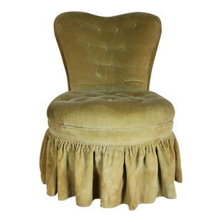 Heart Back Boudoir Accent Vanity Slipper Chair 1930s or 1940s