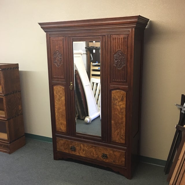 Vintage Armoire With Mirrored Door - Image 3 of 11