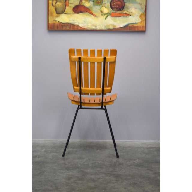 Arthur Umanoff Raymor Mid-Century Slat Chairs, Set/4 - Image 5 of 9