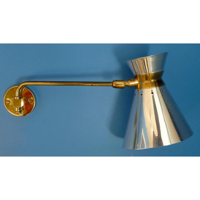 Pierre Guariche Style Adjustable Wall Scones - A Pair - Image 5 of 9