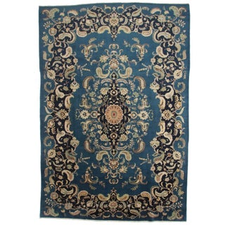 Antique Hand Knotted Persian Rug - 9′5″ × 13′7″