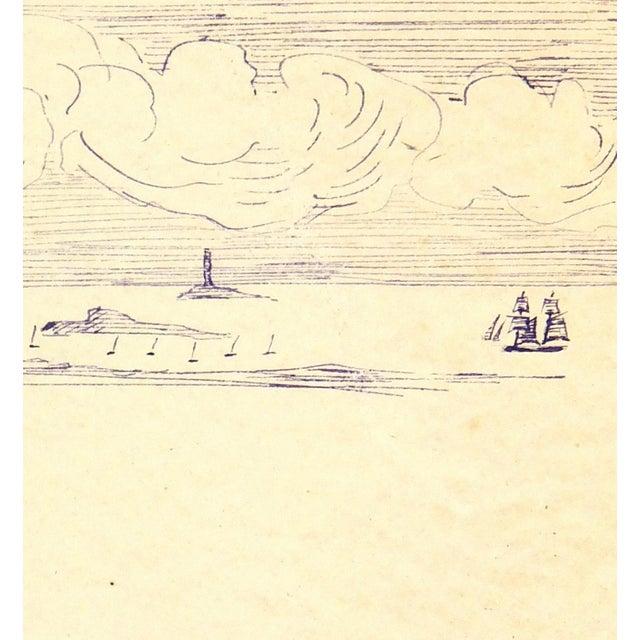 Vintage Ink Drawing - Bay Islands, C. 1910 - Image 2 of 3
