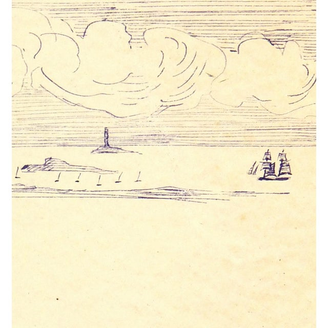 Image of Vintage Ink Drawing - Bay Islands, C. 1910