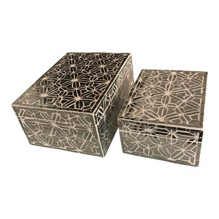 Made Goods 'Atalia' Mirrored Boxes - A Pair
