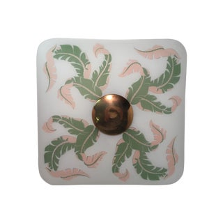 Scrolled Leaf Frosted Ceiling Shade