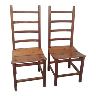 Rustic Farmhouse Chairs - a Pair- on Hold