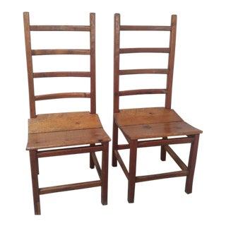 Rustic Farmhouse Chairs - a Pair