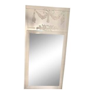 Contemporary White Wood Mirror