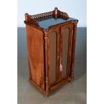 Image of Antique Carved Mahogany Music Cabinet