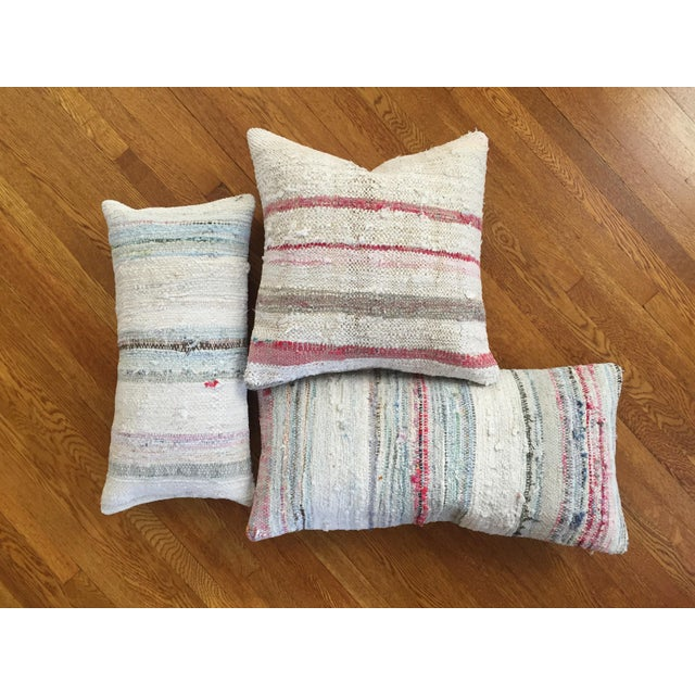 Moroccan Kilim Boho Pastel Pillow Cover - Image 3 of 7