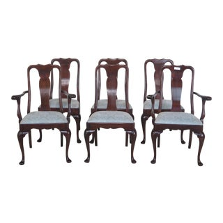Stickley Queen Anne Mahogany Dining Room Chairs - Set of 6