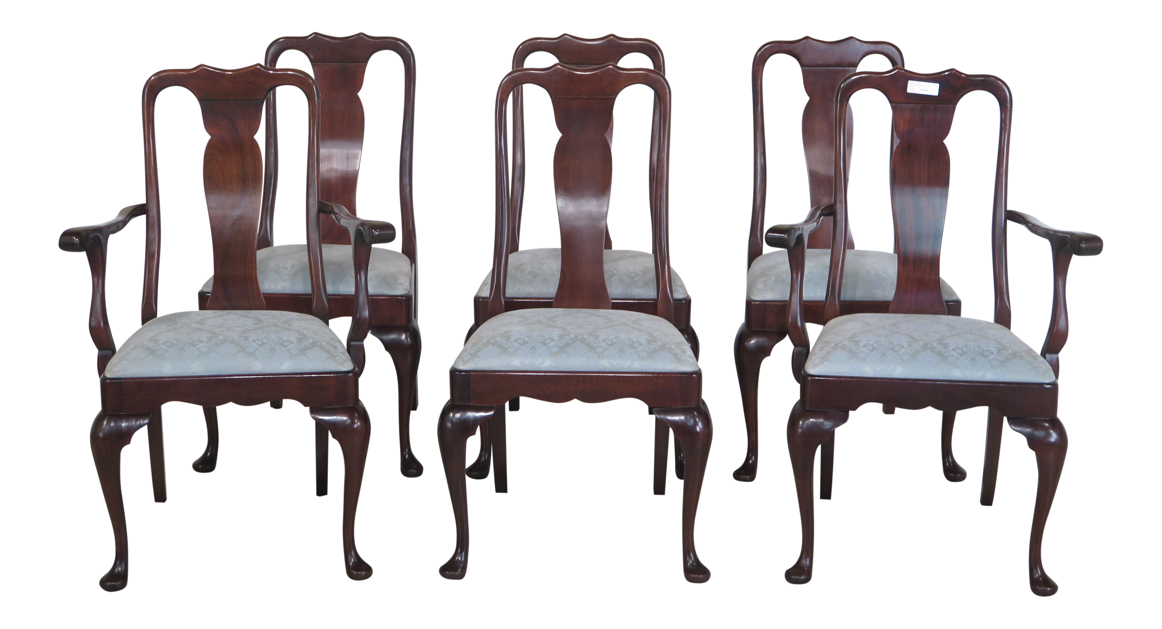 Stickley Queen Anne Mahogany Dining Room Chairs   Set Of 6