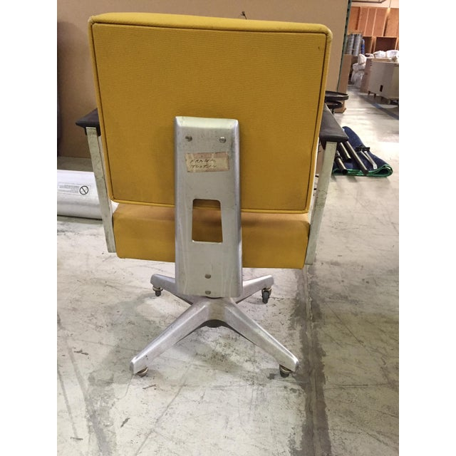 Vintage Yellow Office Chair - Image 5 of 7