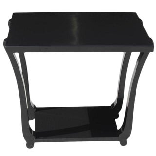 Circa 1940s French Art Deco Ebonized Accent Table