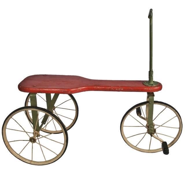 Antique Painted Wood Tricycle - Image 1 of 3