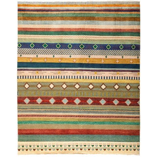 "Overdyed Hand Knotted Area Rug - 8'1"" X 10'1"""