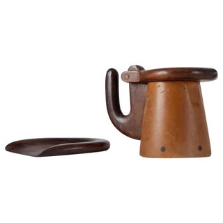 Max Méder Wooden Bowl and Pitcher, France, circa 1960