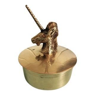 Brass Unicorn Box