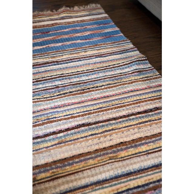 "Vintage Scandinavian Handmade Rug - 2'2"" x 9'3"" - Image 2 of 9"