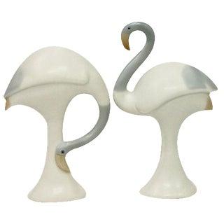 1920s Bisque Porcelain Birds- A Pair