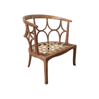 Michael Taylor Carved Walnut Chairs - Pair