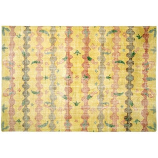 "Turkish Art Deco Rug - 6'11"" x10'"