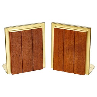 60s Walnut Bookends - Pair