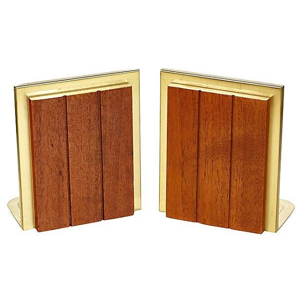 Image of 60s Walnut Bookends - Pair
