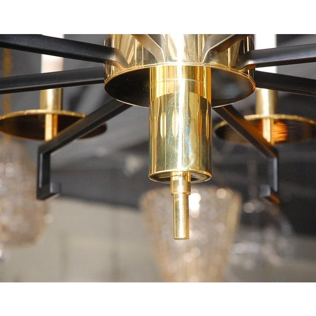 Image of Paul Marra Design Greek Key Chandelier in Brass