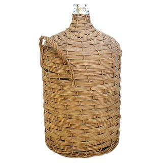 Wicker DemiJohn with Handles