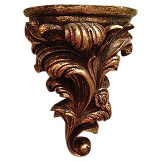 Carved Gold Wall Shelf