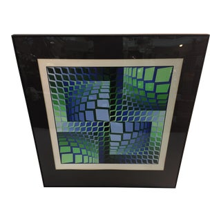 CAPTIVATING SIGNED VICTOR VASARELY OPTIC ART LITHOGRAPH