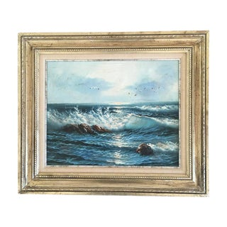 Vintage Seascape Gold Framed Painting