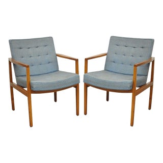 Florence Knoll International Mid-Century Modern Club Chairs - A Pair