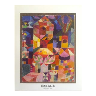 1992 Paul Klee Original Abstract Offset Lithograph Print Poster Burggarten 1919