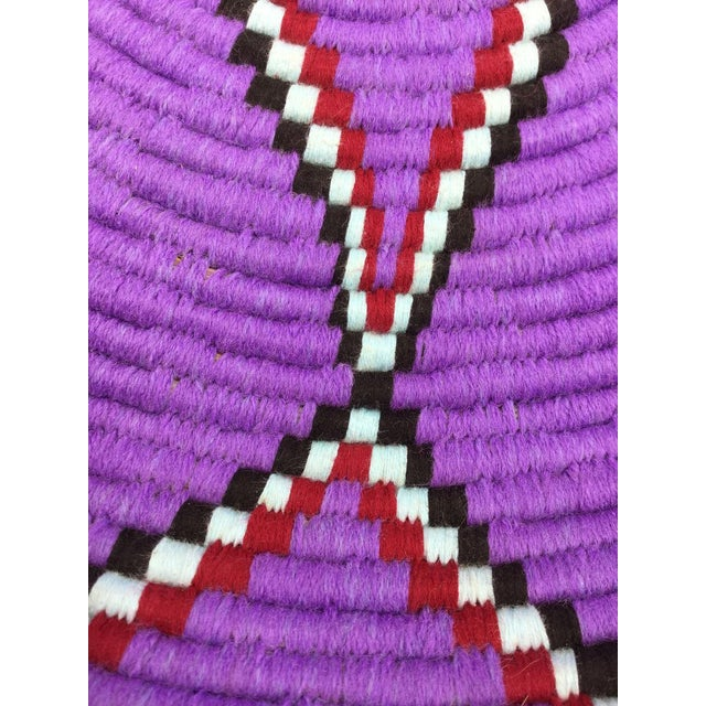 Purple and Red Moroccan Wool Tray - Image 4 of 8