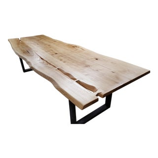 Handcrafted Siberian Ash Wood Plank Table