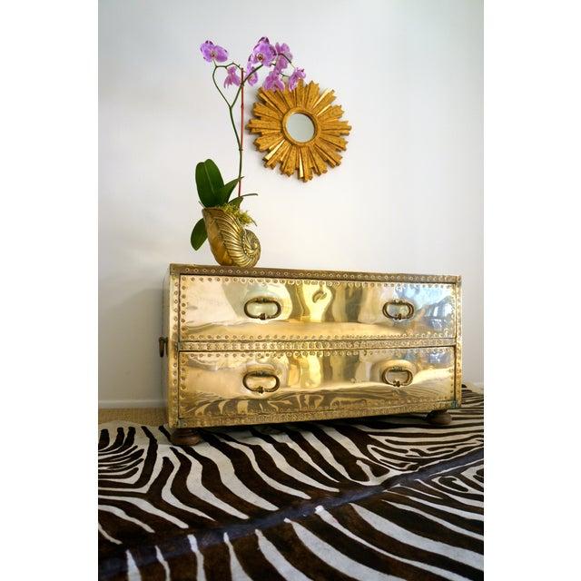 Brass Studded Sarreid Chest - Image 6 of 11