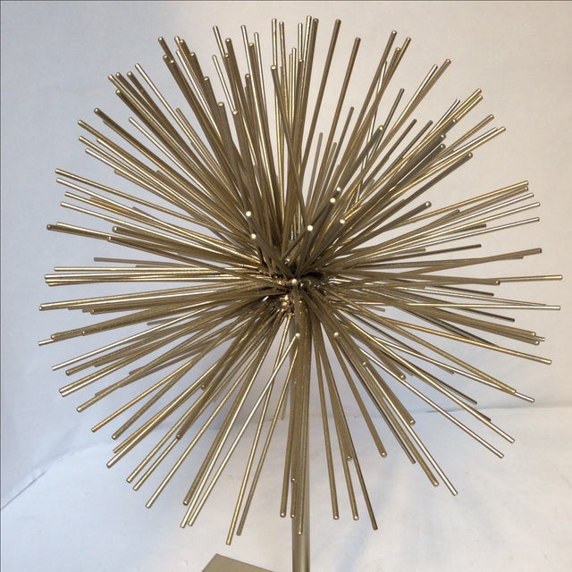 Large Gold Star Burst on Stand - Image 4 of 6