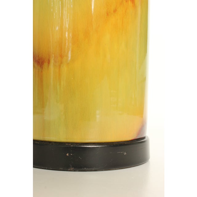 Honey Yellow Drip Glaze Ceramic Table Lamp - Image 4 of 6