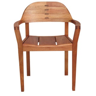 Mid Century Modern Dining or Desk Chair. Sustainably Sourced Royal Mahogany. Xiloa Chair