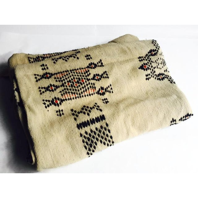 Image of Vintage Native American Rare Blanket Hand Woven