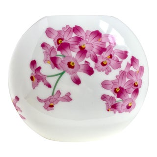 Porcelain Vase With Orchids
