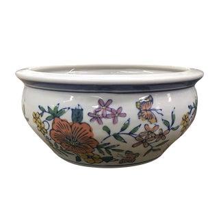 Floral Motif Ceramic Cache Pot