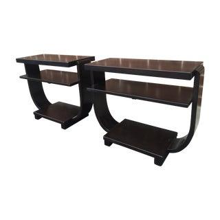 Art Deco Side Tables by Brown Saltman - Pair