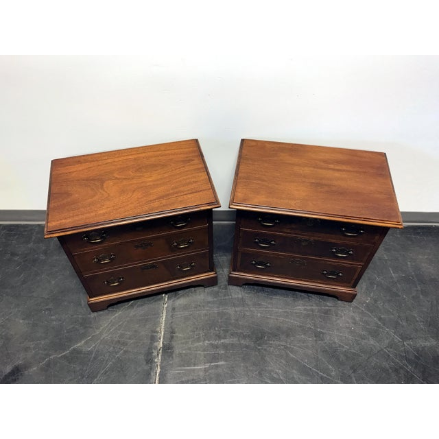 Mahogany Chippendale Bedside / Chairside Chests - Pair - Image 4 of 11