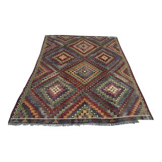 Vintage Turkish Kilim Rug - 7′1″ × 9′8″