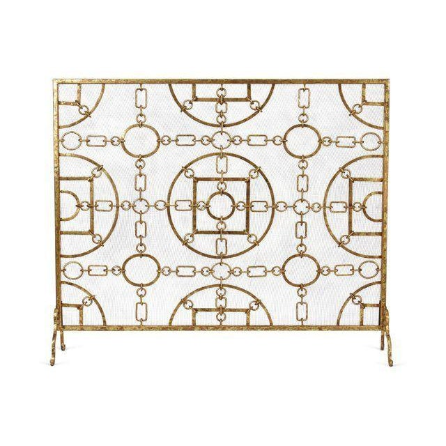Single Panel Gold Fire Screen Chairish