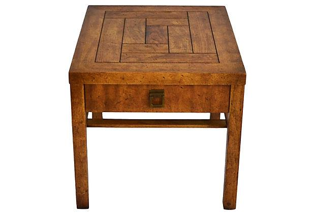 Campaign Style Side Tables By Drexel   Pair   Image 4 Of 7